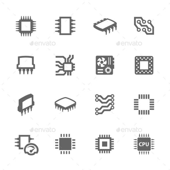 GraphicRiver Chips and Microscheme Icons 11103617