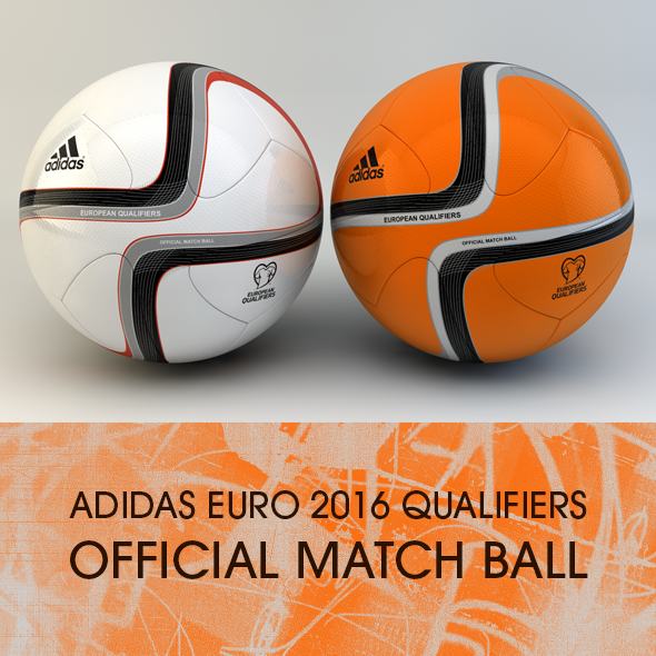 3DOcean Adidas Euro 2016 Qualifiers Official match ball 11103640