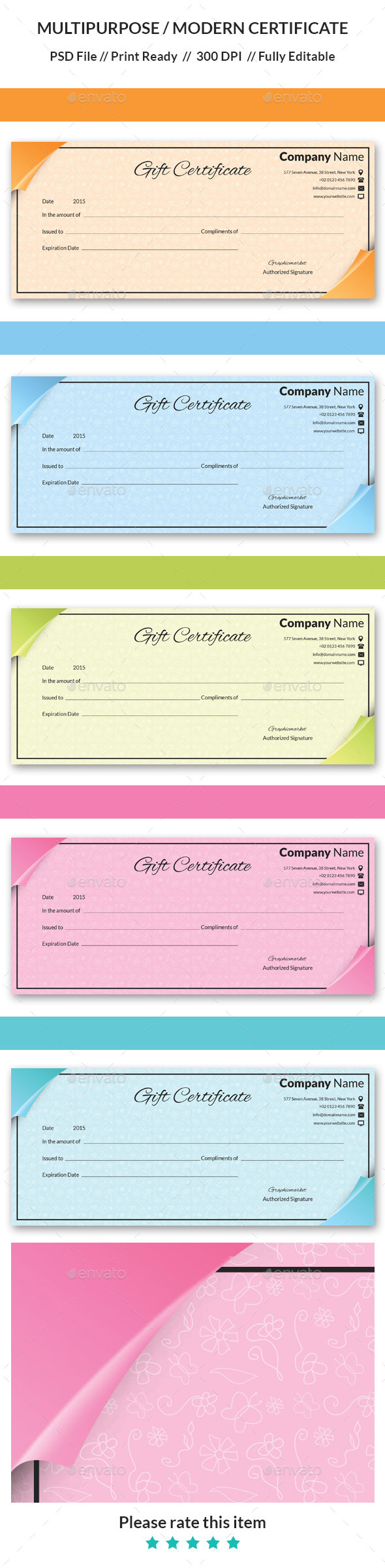 GraphicRiver Gift Certificate 11103645