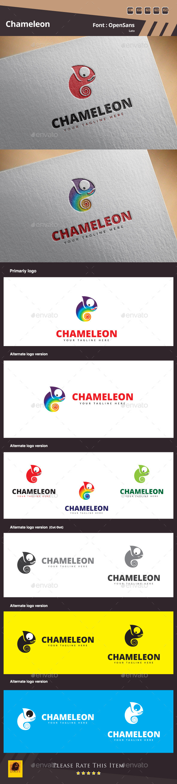 GraphicRiver Chameleon Logo Template 11103744