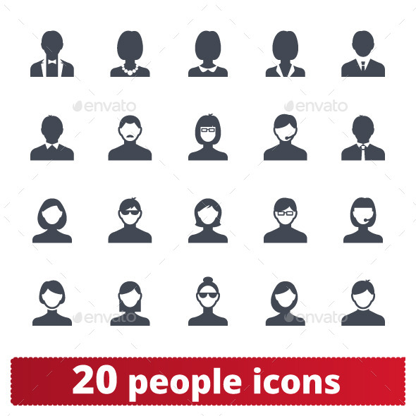 GraphicRiver People Icons 11103758