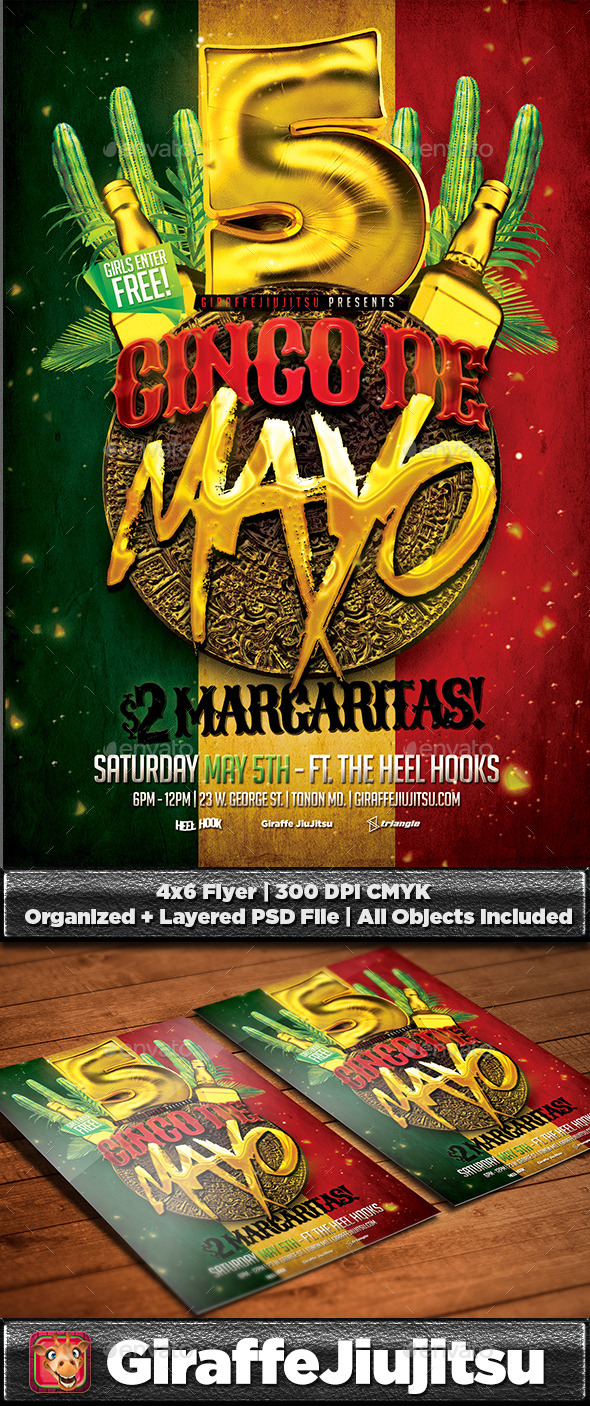 GraphicRiver Cinco De Mayo Flyer Template #2 11104064