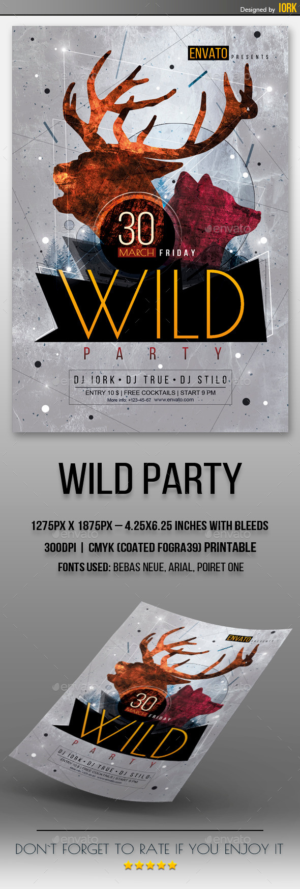 GraphicRiver Wild Party Flyer 11104493