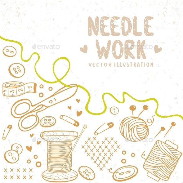 GraphicRiver Needle Work Background 11104507