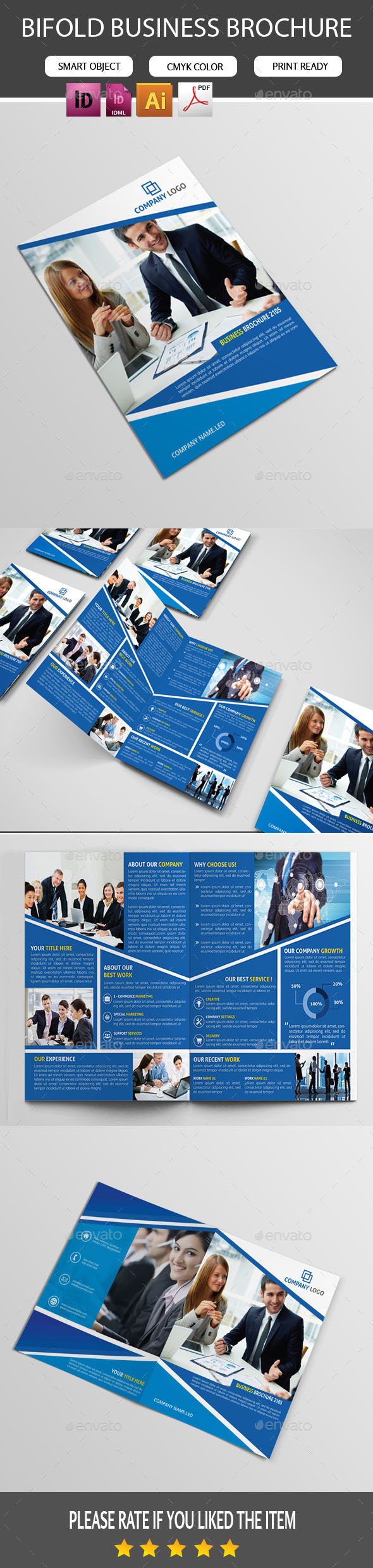 GraphicRiver Bifold Brochure-Template 11104614