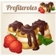 Profiteroles with Chocolate and Strawberry - GraphicRiver Item for Sale
