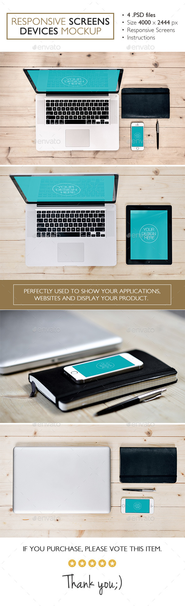 GraphicRiver Responsive Screens Devices Mockup 11073905