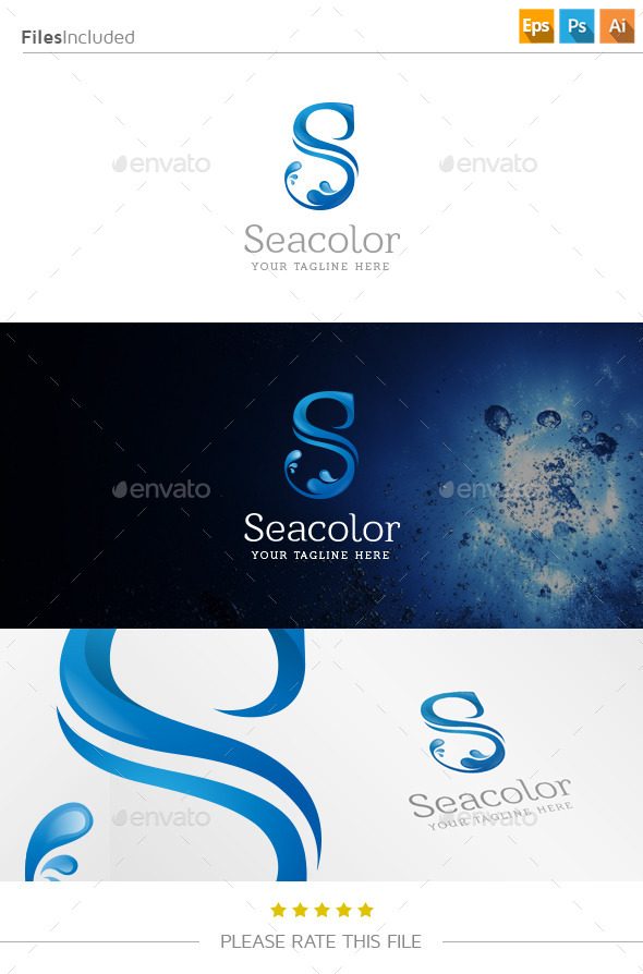 GraphicRiver Letter S Water Logo 11104889