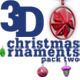 3D Christmas ornaments pack two - VideoHive Item for Sale