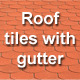 Roof tiles with gutter - GraphicRiver Item for Sale