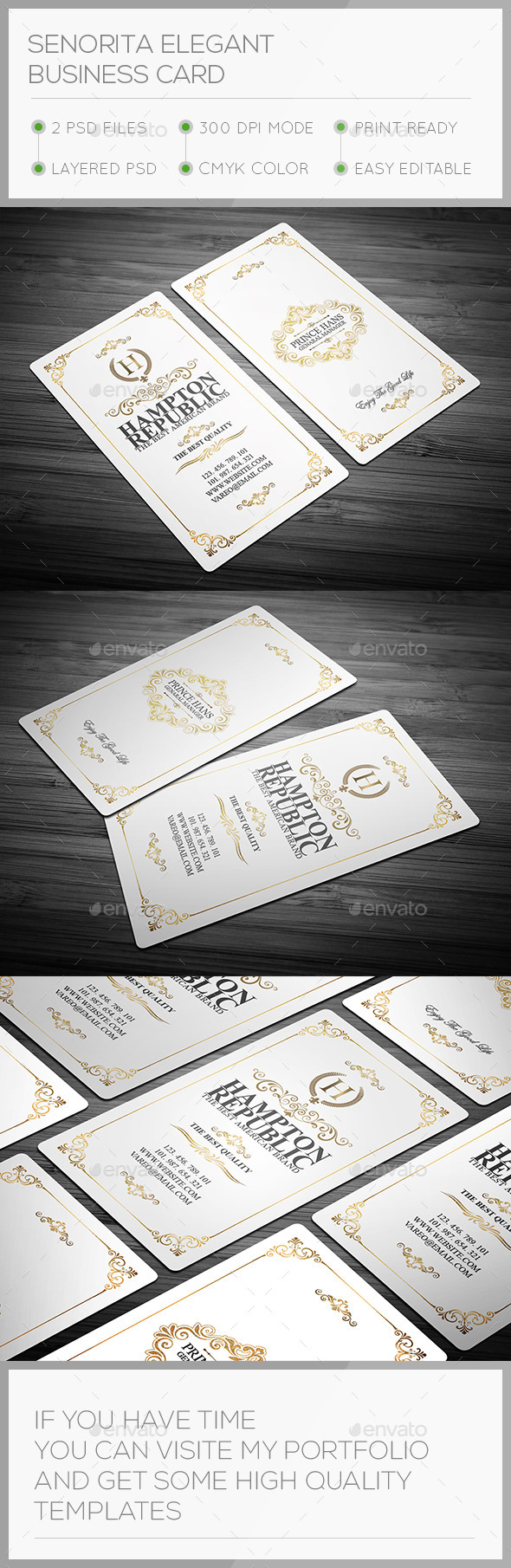 GraphicRiver Senorita Elegant Business Card 11105187