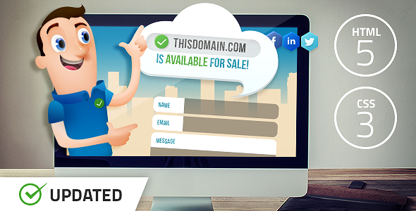 Salesman - Domain For Sale Template