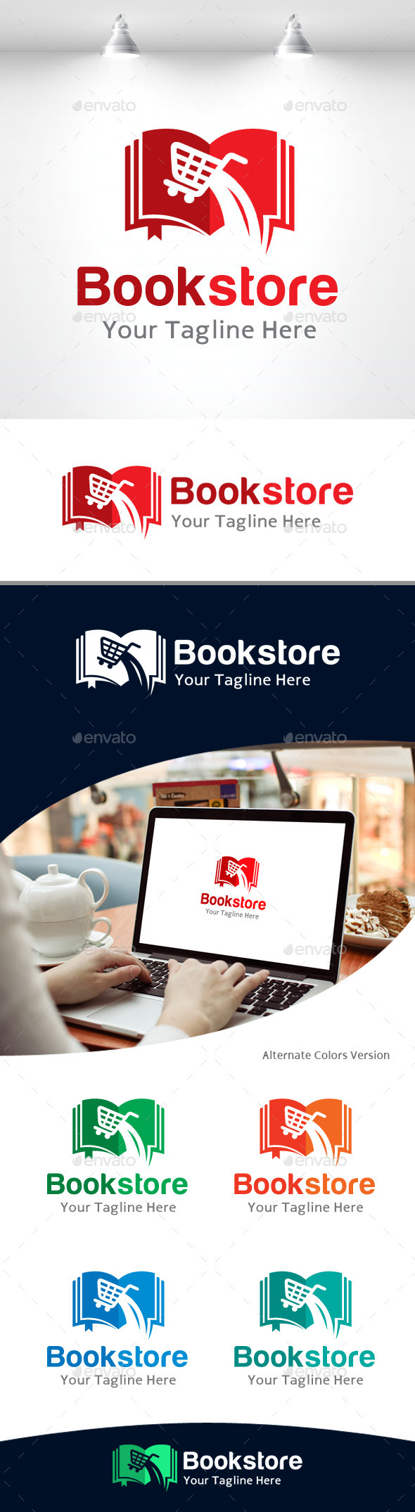GraphicRiver Book Store Logo 11105461