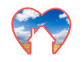 Shape of heart with house and the scenery inside - PhotoDune Item for Sale