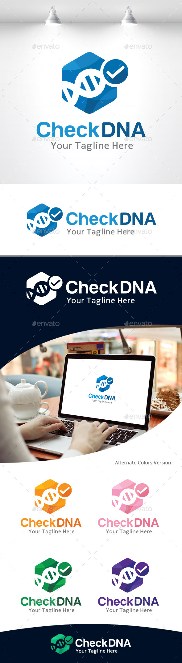 GraphicRiver Check DNA logo 11105482