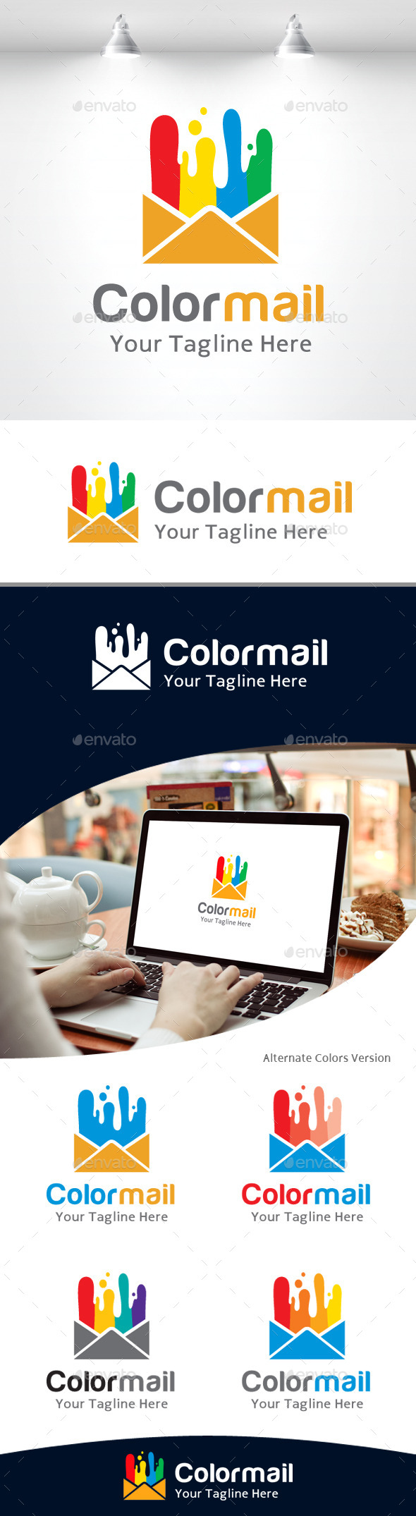 GraphicRiver Color Mail Logo 11105491