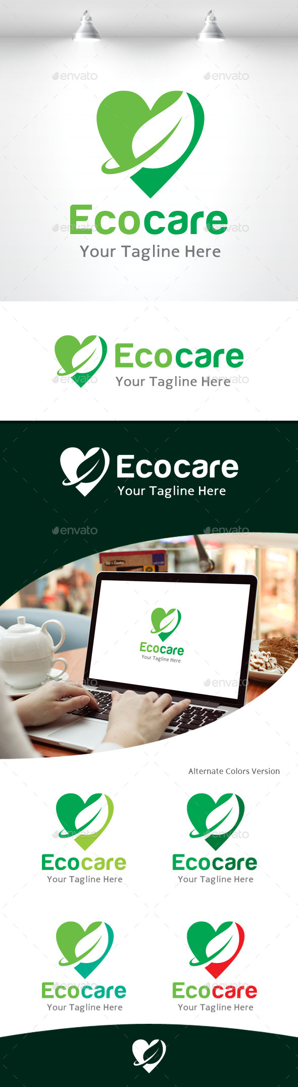 GraphicRiver Eco Care Logo 11105584