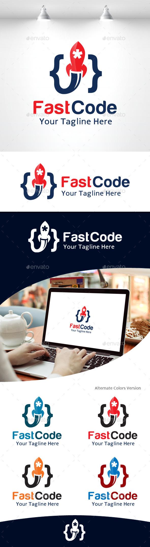 GraphicRiver Fast Code Logo 11105598