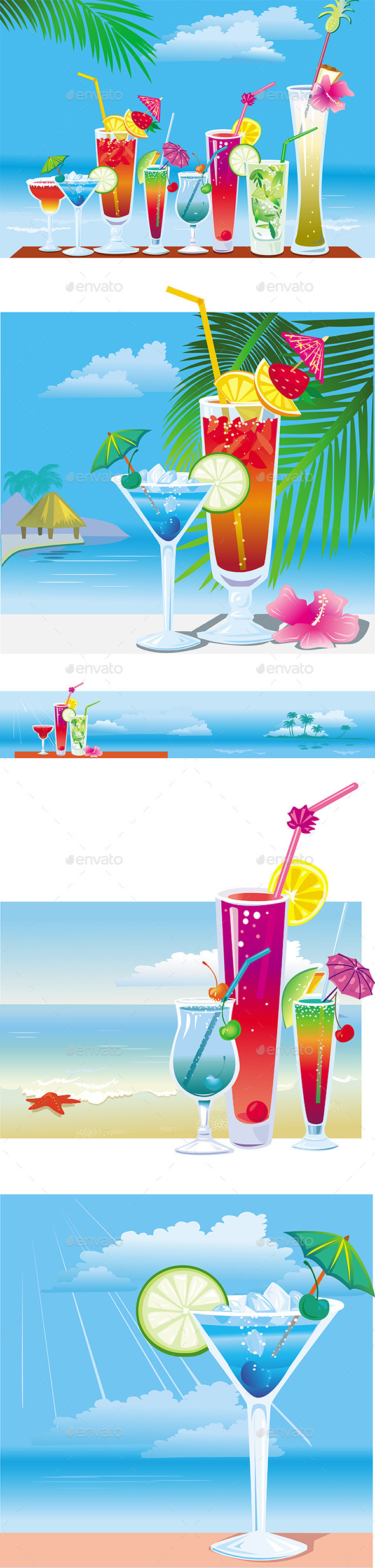 GraphicRiver Cocktails 11105616