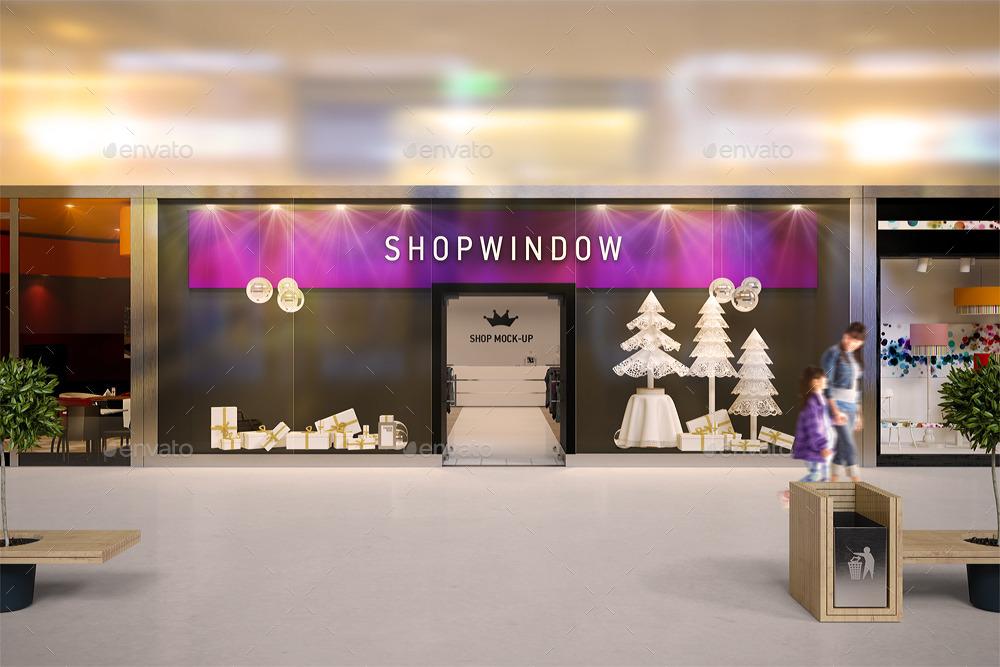 Shop Window Branding Mock-up by Ayashi | GraphicRiver