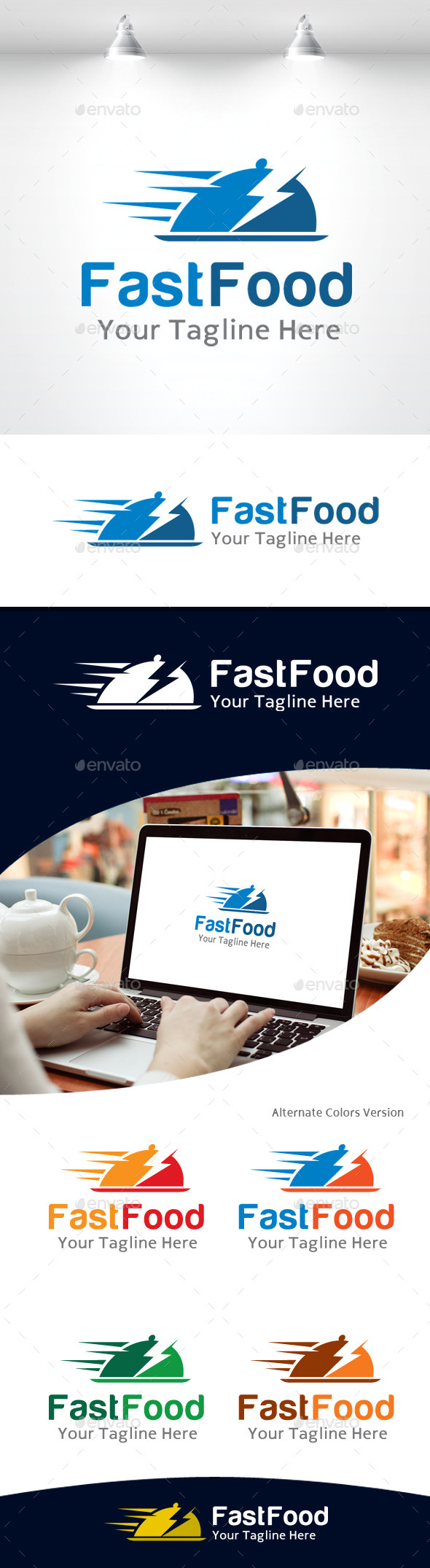 GraphicRiver Fast Food Logo 11105624