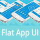 Flat Mobile App UI Kit - GraphicRiver Item for Sale