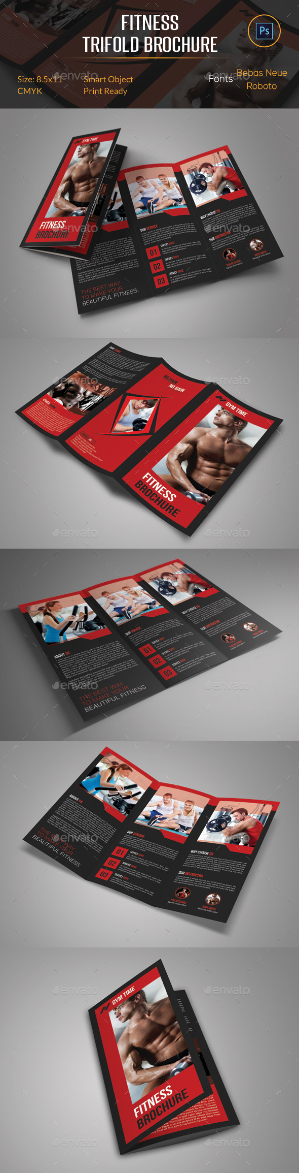 GraphicRiver Fitness Trifold Brochure 11105668