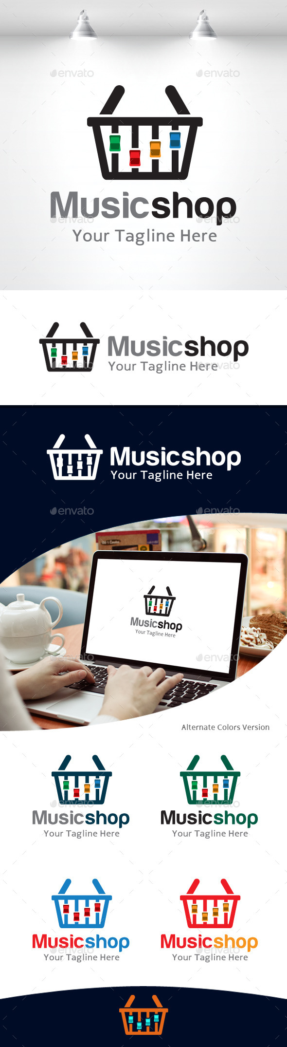 GraphicRiver Music Shop Logo 11105669