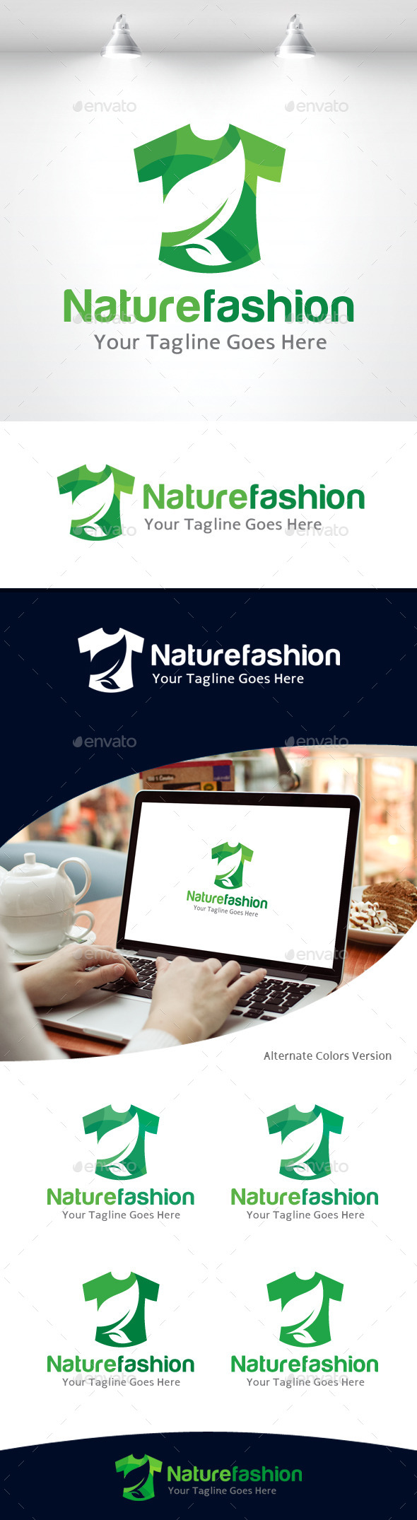 GraphicRiver Nature Fashion Logo 11105678