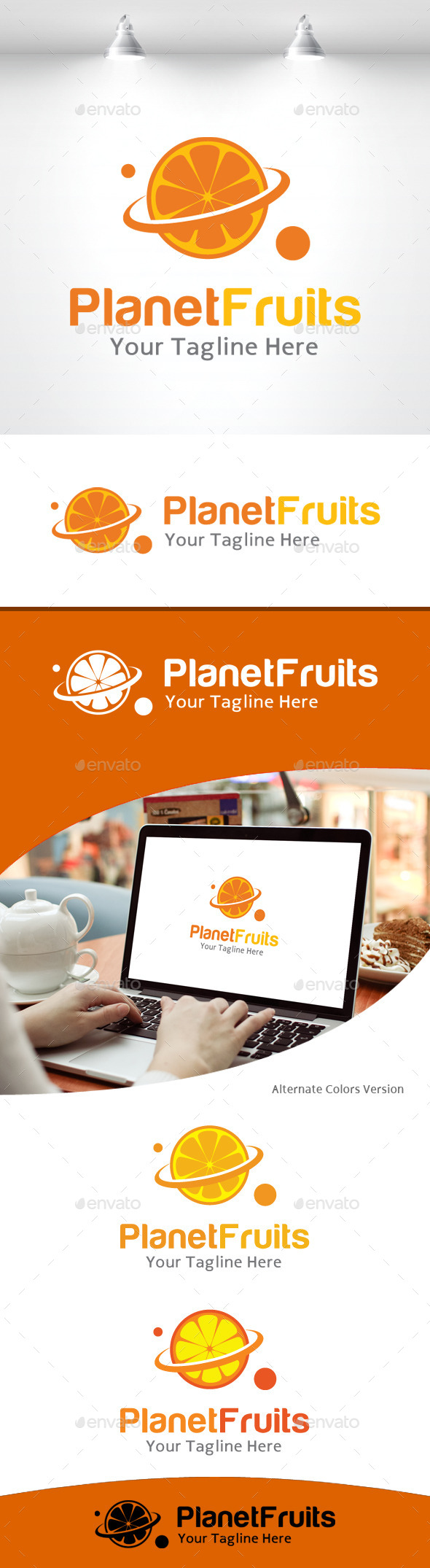 GraphicRiver Planet Fruits Logo 11105745