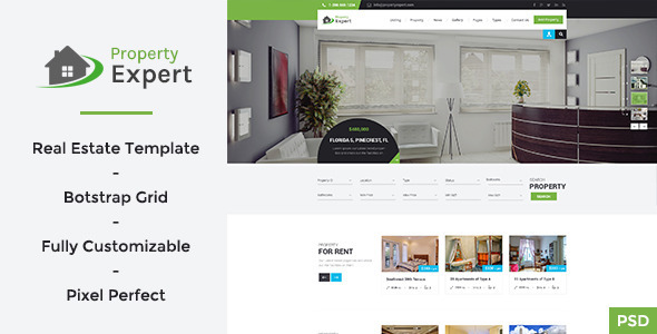 ThemeForest Property Expert Real Estate PSD Template 11105763