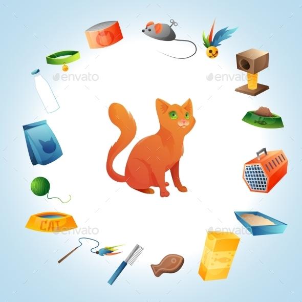 GraphicRiver Cat Stuff Set 11105971