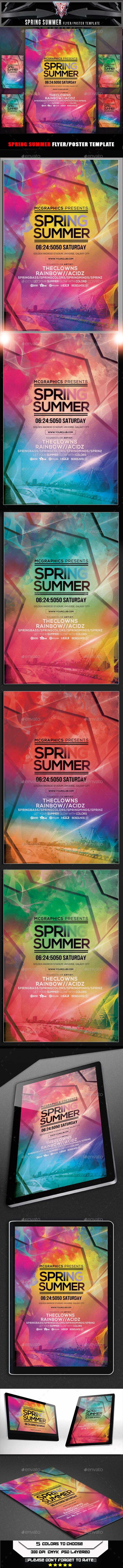 GraphicRiver Spring Summer Flyer Template 11106524