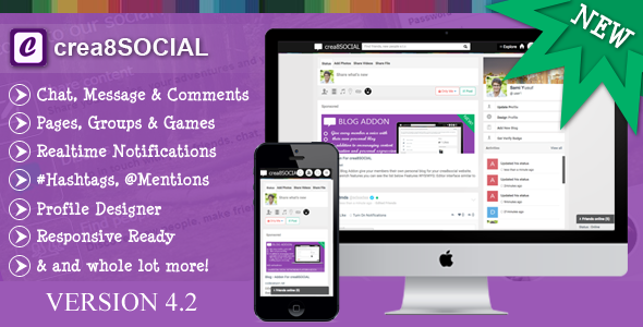 crea8social - PHP Social Networking Platform v4.2 - CodeCanyon Item for Sale