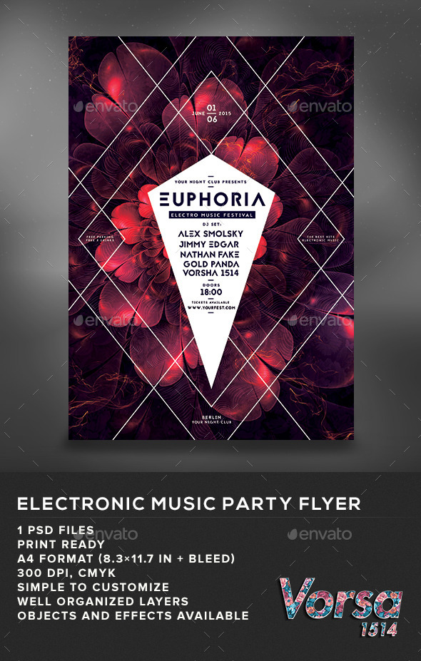 GraphicRiver Electronic Music Party Flyer 11056805