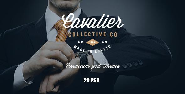 ThemeForest Cavalier E-Commerce and Blog PSD Theme 11107623