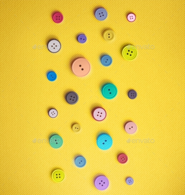 GraphicRiver Colorful Sewing Buttons 11107959