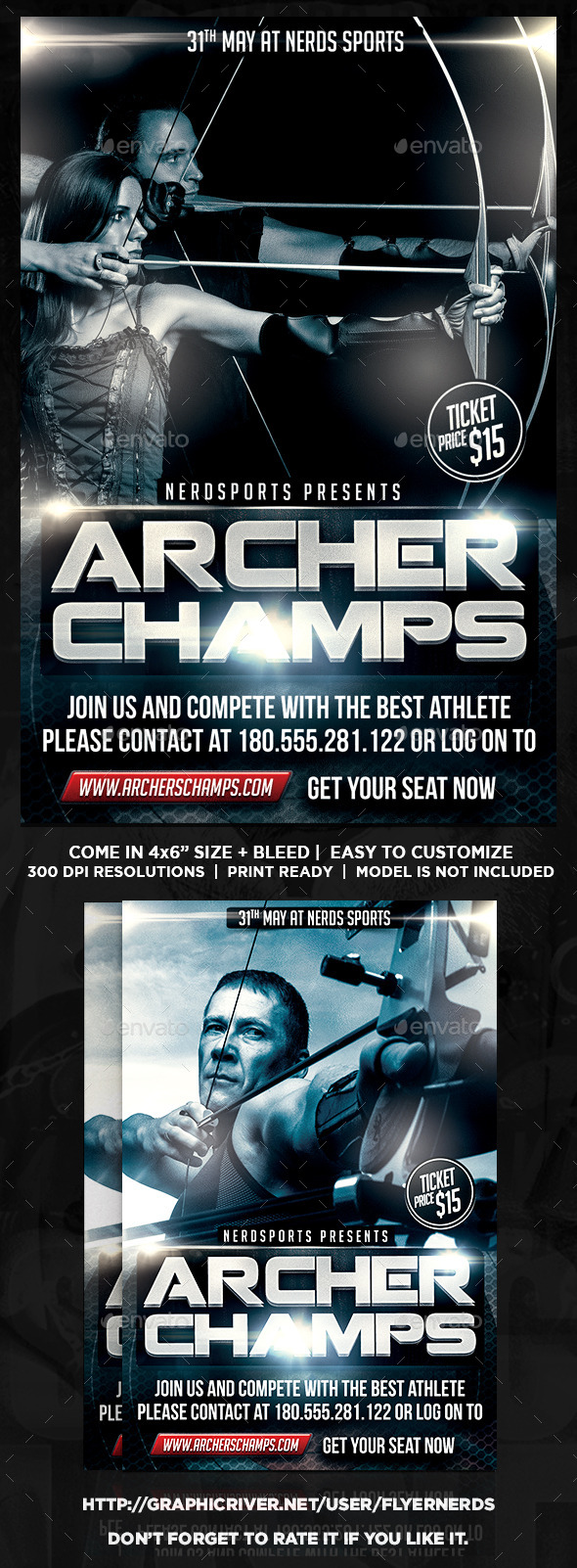 GraphicRiver Archery Championships Sports Flyer 11107965