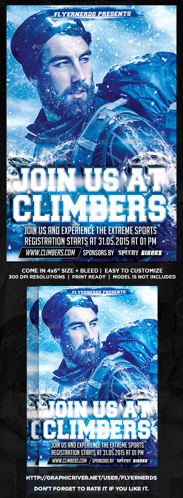 GraphicRiver Climber Club Sports Flyer 11107967