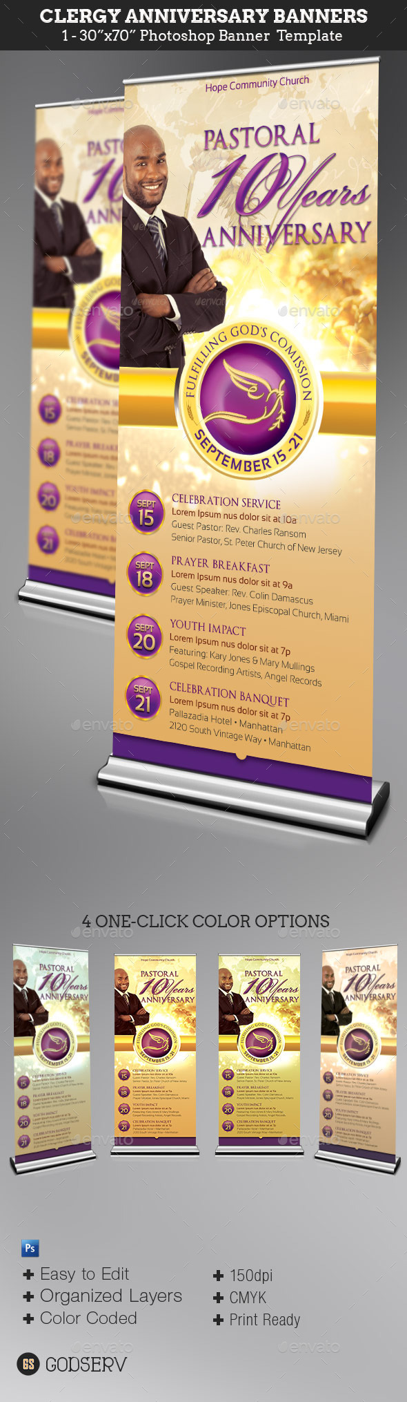 GraphicRiver Clergy Anniversary Banner Template 11107971