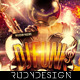 DJ Funk Elektro Sound Music Party Flyer