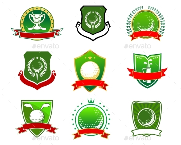 GraphicRiver Golf Emblems and Logos 11108035