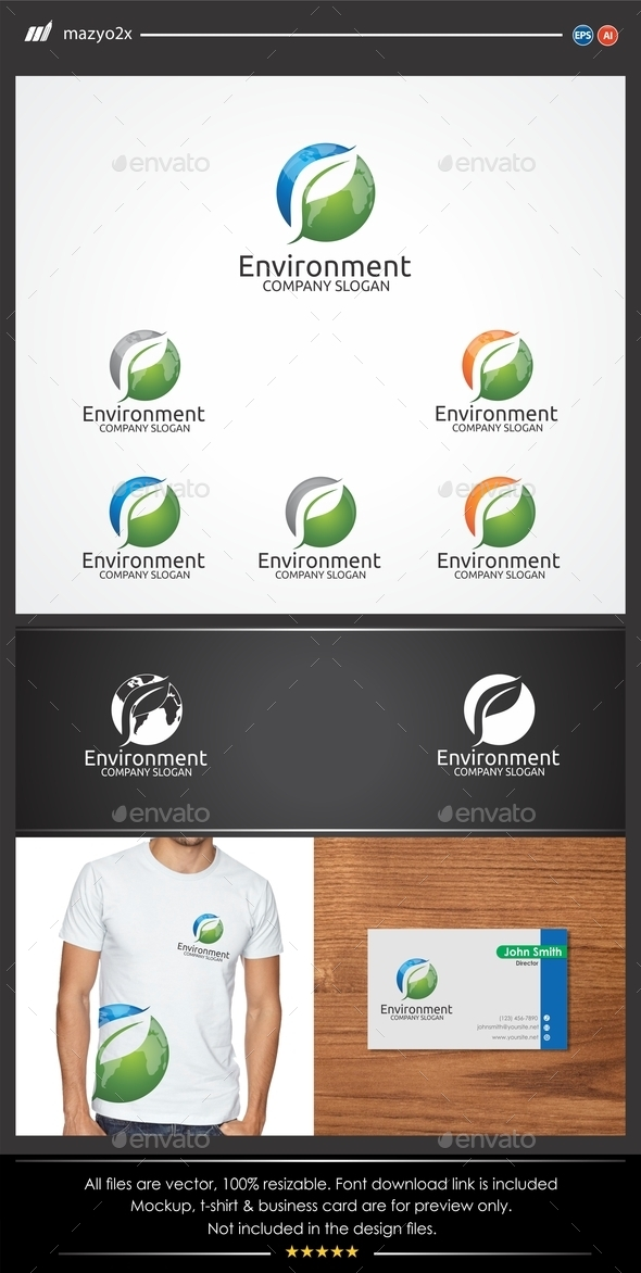 GraphicRiver Letter P Leaf Environment Logo 11108045