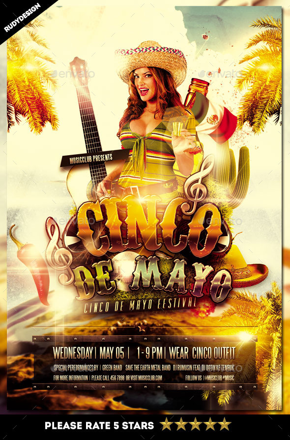 GraphicRiver Cinco de Mayo Celebration Flyer 11108118