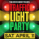 Traffic Light Party Flyer Template - GraphicRiver Item for Sale