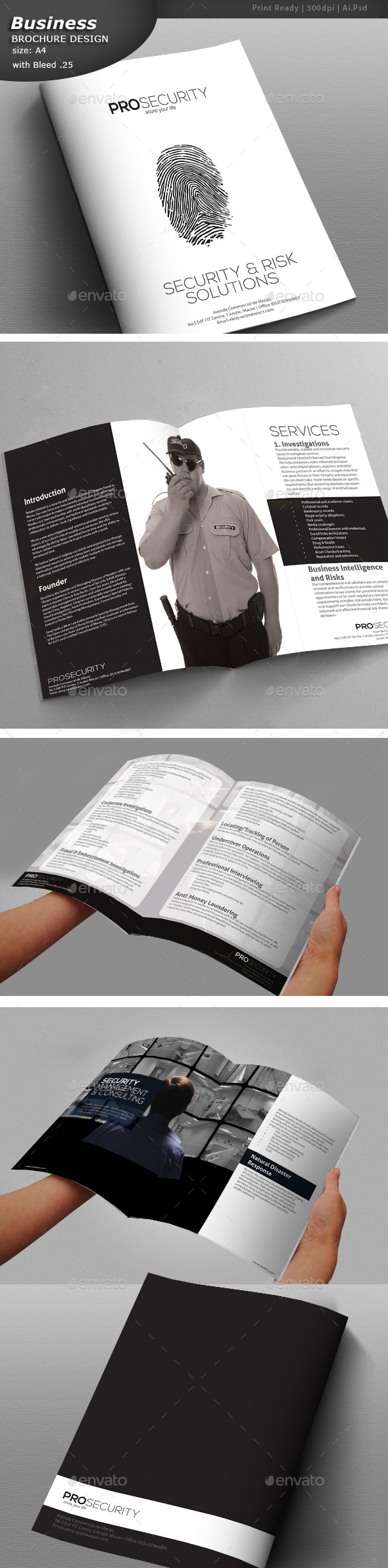 GraphicRiver Security A4 Brochure Design 11025732