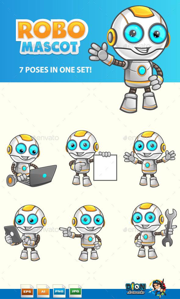 GraphicRiver Robot Mascot 11108475