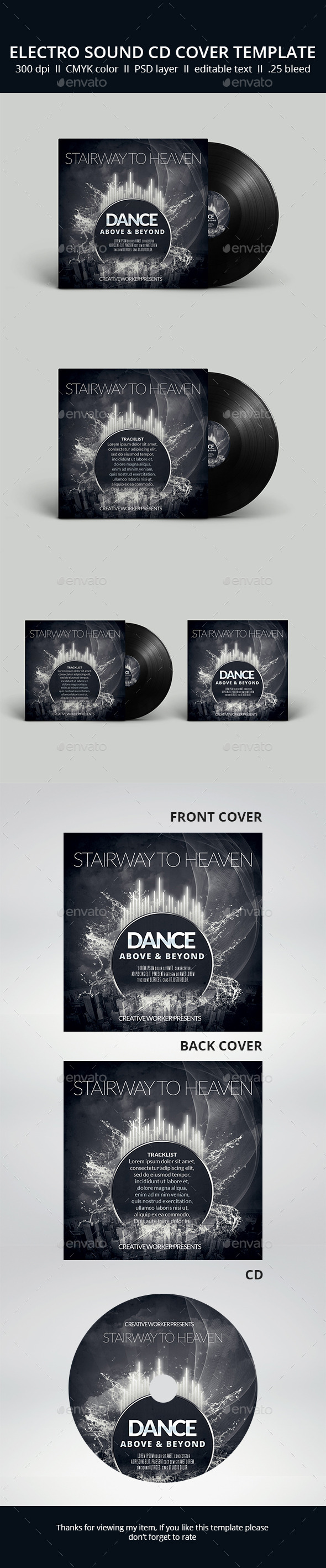 GraphicRiver Dance CD cover 11108643