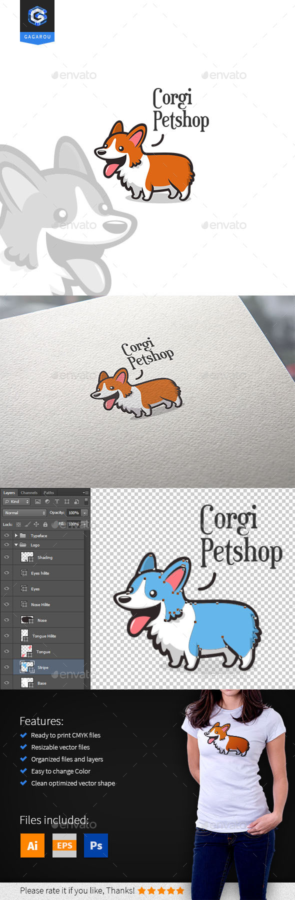GraphicRiver Corgi Petshop Logo 11108760