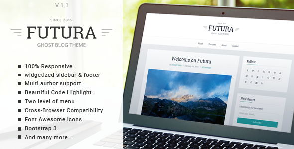 Activa - Responsive Multipurpose Ghost Theme